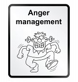 Постер, плакат: Anger Management Information Sign
