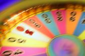 Blurry Colorful Glow Gambling Roulette