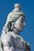 image of shiva  - Statue Shiva hindu idol on the river Ganges Rishikesh India - JPG