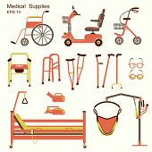 stock photo of rollator  - medical hospital equipment for disabled people - JPG