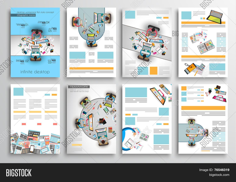 Set Flyer Design, Web Templates. Vector & Photo | Bigstock