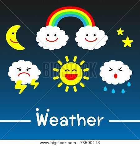 Weather icons - vector
