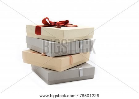Gift Boxes isolated on white