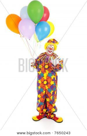 Birthday Clown Isolated