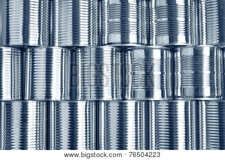 Tin cans stacked on each other