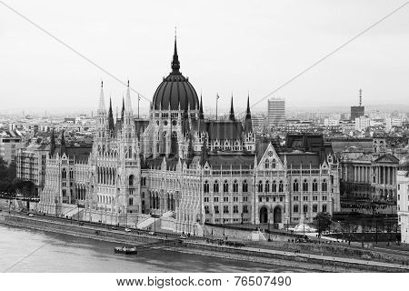 Budapest Parliament Building on the Danube