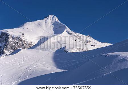 Hintertux Glacier At Sunet