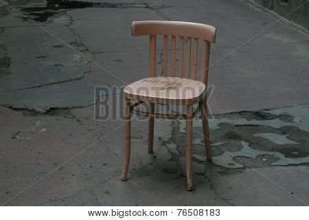 Empty Chair Symbolizing Loneliness