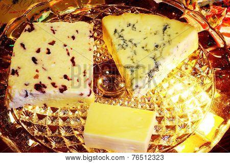 English cheese selection.