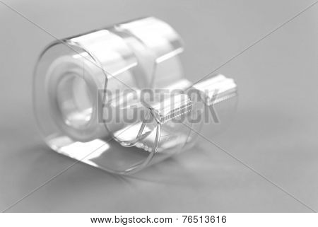 Two cellophane tapes on grey background