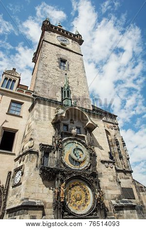 Old Town Hall With Astronomical Clock In Prague
