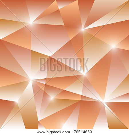 Geometric Pattern With Orange Triangles Background