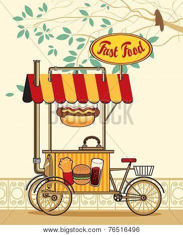 Trolley wheel for fast food