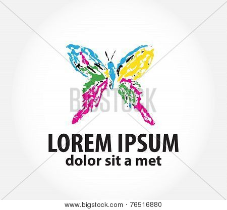 template logo with butterfly