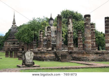 Seated Buddha Sukothai Thailand