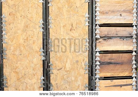 Metal And Wood Pattern Background