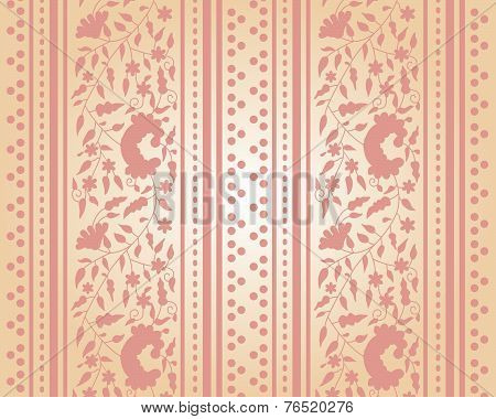Classical cream floral background