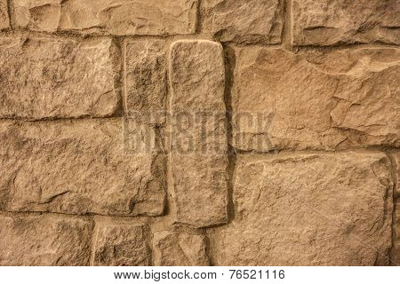 synthetic brick wall