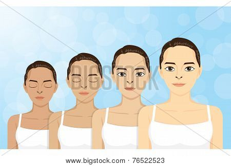 step skin colors dark skin from light