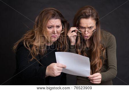 Two Shocked Women