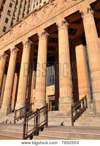 City Law Justice Court Building with Columns