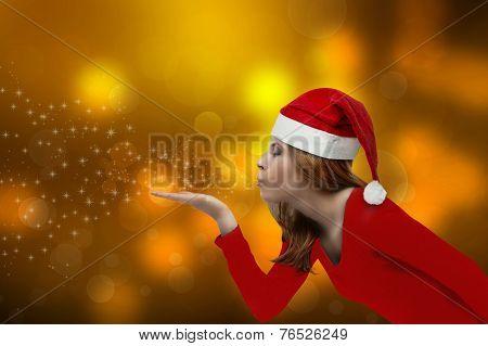 Christmas Girl Blowing