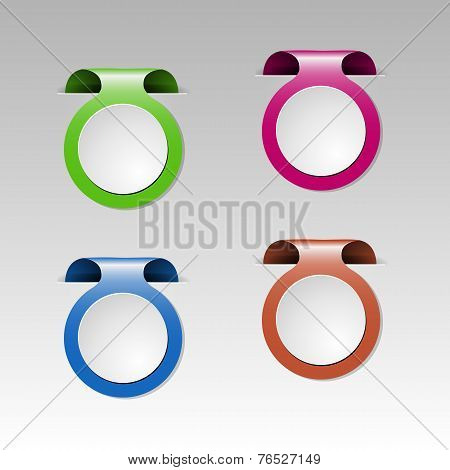 Set Of Colorful Metalic Clip