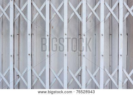 Slide steel locked shutter door, pattern background