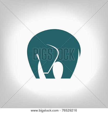emblem of an elephant on a light background
