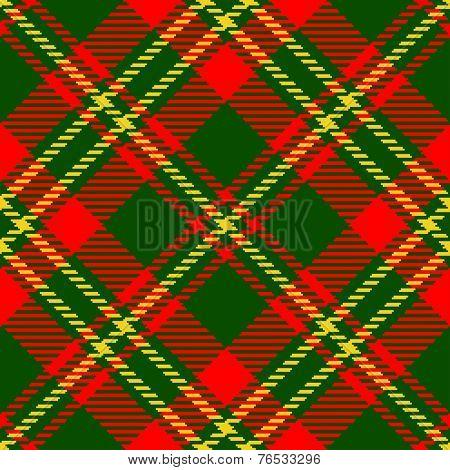 Textured tartan plaid. Seamless vector pattern
