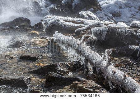 Waterfall near Icefields Parkway