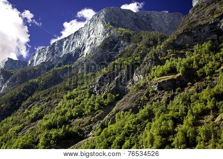 Beautiful mountains in the Lysefjord