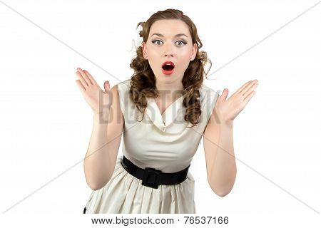 Image of surprised woman with open mouth