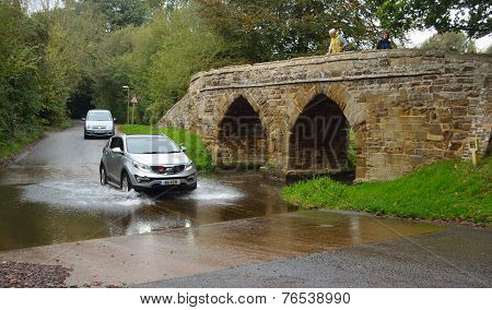 Sutton Splash and Packhorse Bridge Bedfordshire