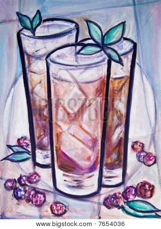 Iced Tea Painting