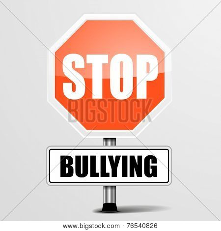 detailed illustration of a red stop Bullying sign, eps10 vector