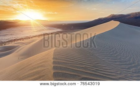 Sunset On Sand Dune