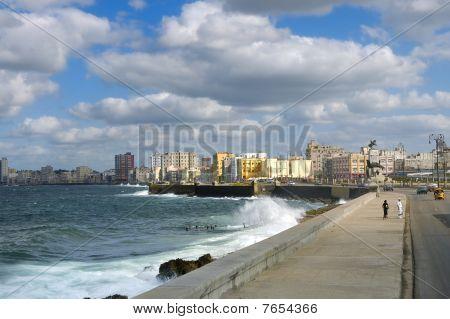 Havana - Dec 3Rd, 2008. Cityscape From Havana Malecon, Cuba.