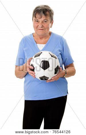 Senior Woman With Ball