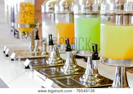 Fresh juice at buffet restaurant