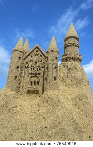 Sandcastle At A Beach In Fuerteventura, Canary Islands
