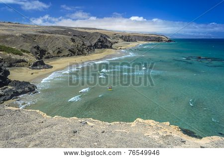 Aerial View Of A Beach In Fuerteventura, Canary Islands