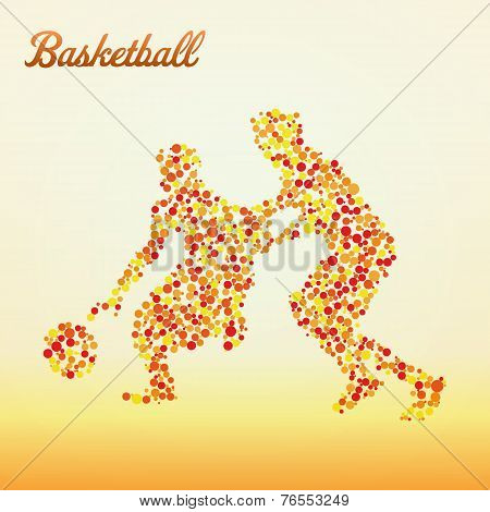 Abstract Basketball Player