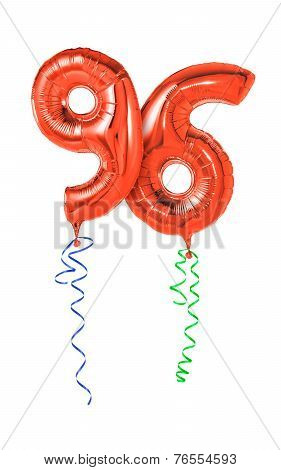 Red balloons with ribbon - Number 96