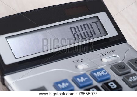 Calculator With Audit On Display