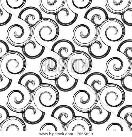 repeating swirl pattern