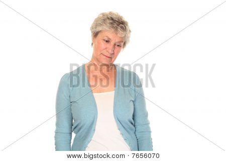 Worried Senior Older Woman