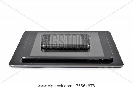 iPad air ,iPad mini and iPhone 4S  Smart Phone developed by Apple Inc.