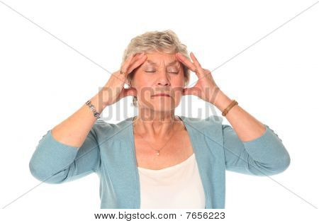 Senior Older Woman In Pain