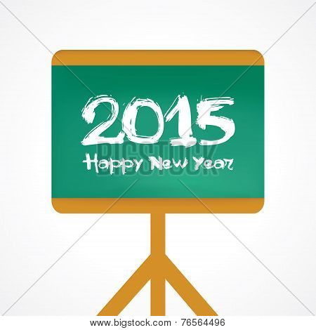 Creative greeting for New year 2015 stock vector